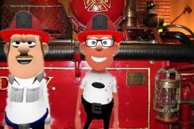 ciro e peppino al museo dei pompieri